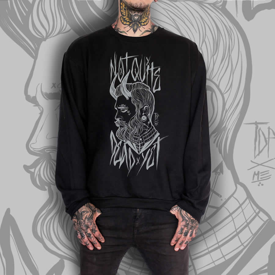 TDP Clothing Tattooed Gentleman Black Jumper