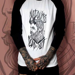 TDP Cothing Tattooed Gentleman Black White Raglan