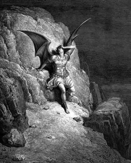 The History of The Devil Gustave Dorè, Lost Paradise 1866