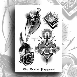 TDP Prints Dark Neotraditional Flash Sheet