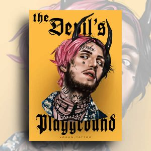 TDP Shop Lil' Peep Tattoo Portrait A4
