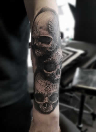 TDP Tattoos BloodGod Skull