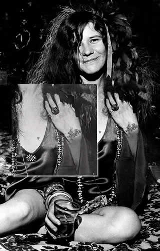 60s Fashion Origin - Janis Joplin Tattoo