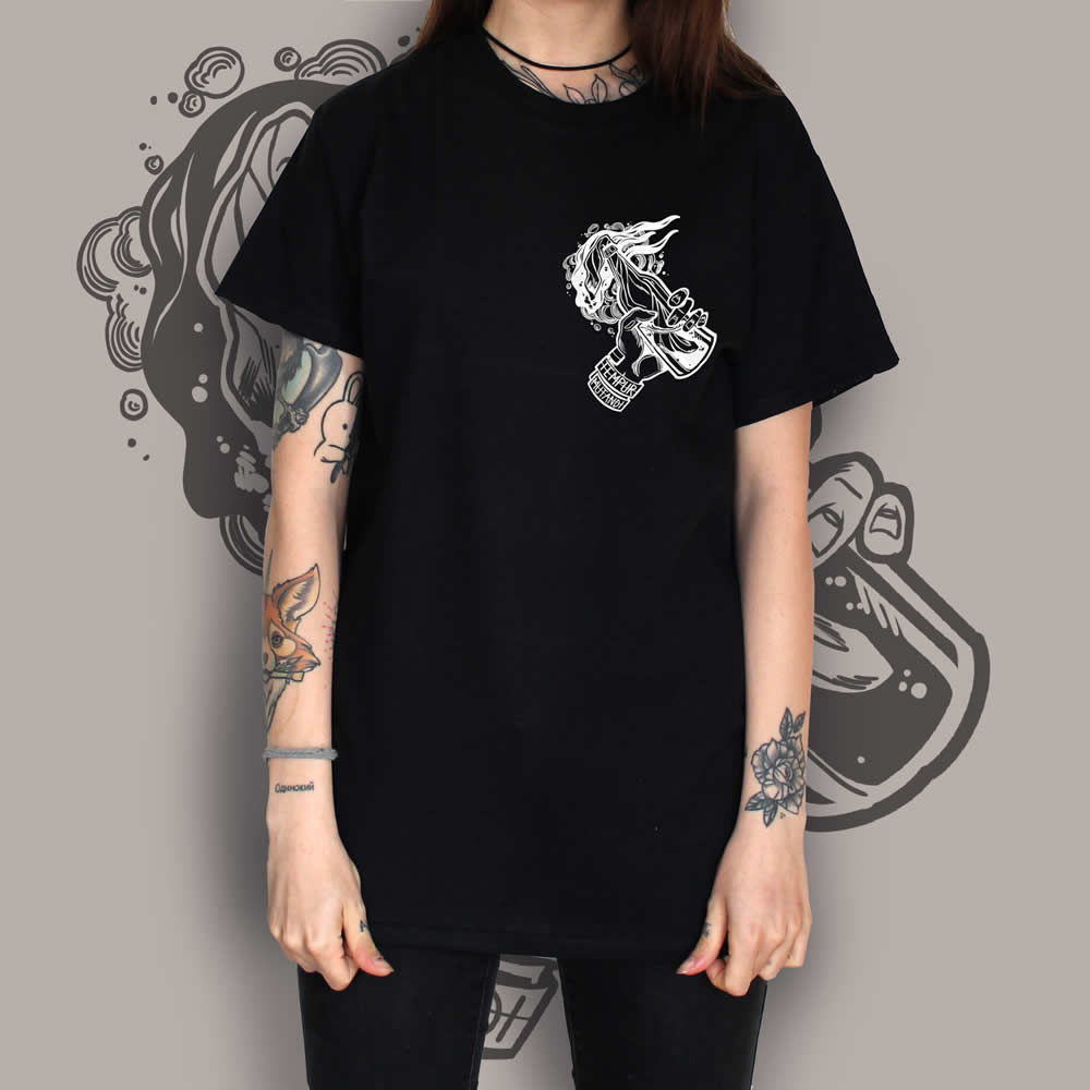 Molotov Tattoo T-Shirt Black