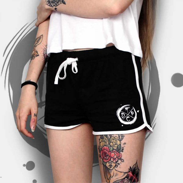 Black and White Trim Shorts