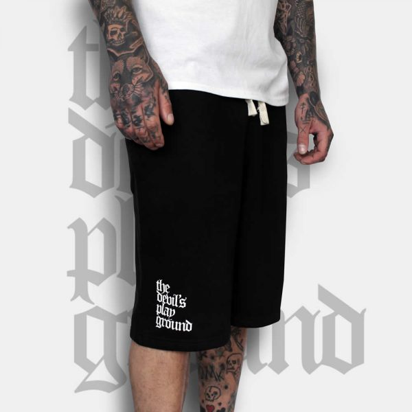 Gothic Lettering Shorts