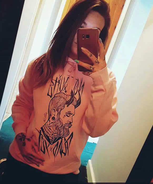 Tattooed Gentleman Pink Hoodie - My TDP Customer Gallery
