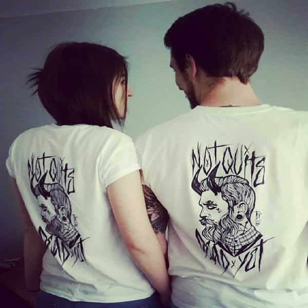 Tattooed Gentleman White T-Shirts - My TDP Customer Gallery