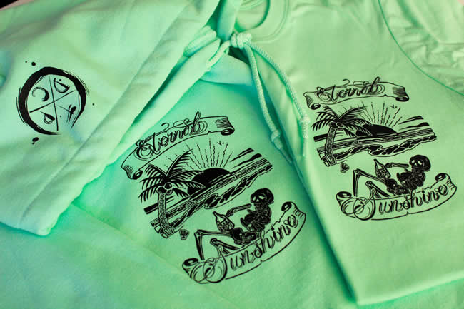 TDP Custom Tattoo Clothing - Mint Hoodie