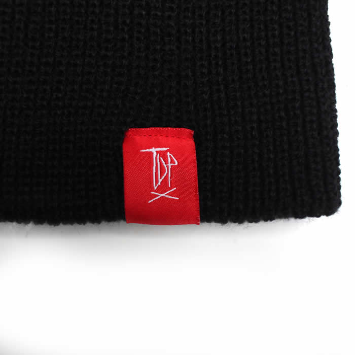 Black Unfolded Beanie