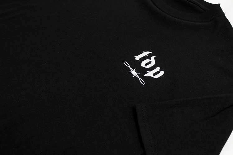 TDP Barbed Wire Logo Black T-Shirt
