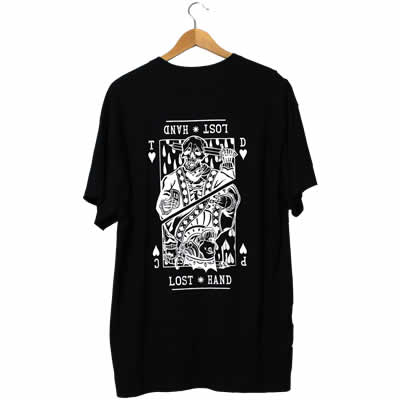 Suicide King of Hearts Black T-Shirt