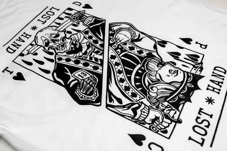 Suicide King of Hearts White T-Shirt