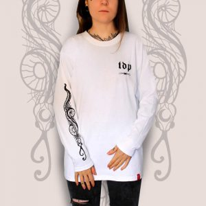 Snake White Long Sleeve T-Shirt Women