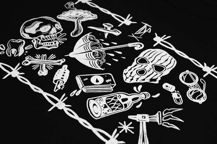 Tattoo Flash Sheet Black T-Shirt