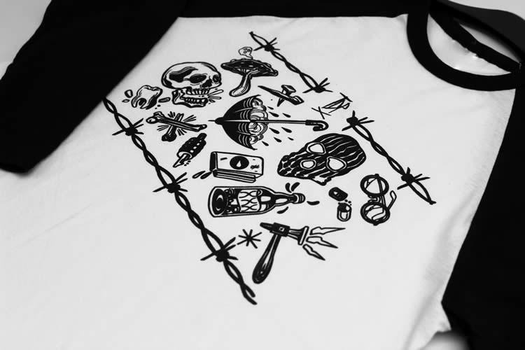 Tattoo Flash Sheet Raglan
