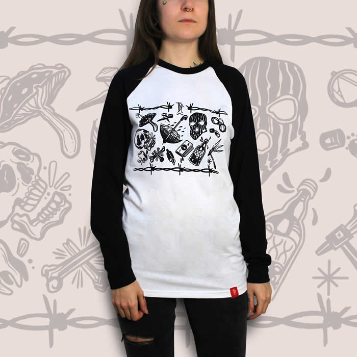Tattoo Flash Sheet Raglan Women