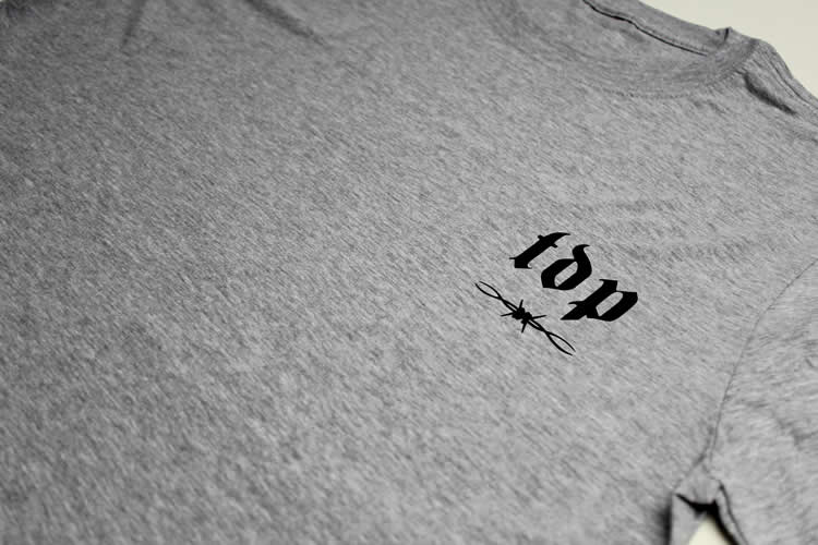 TDP Barbed Wire Logo Grey T-Shirt