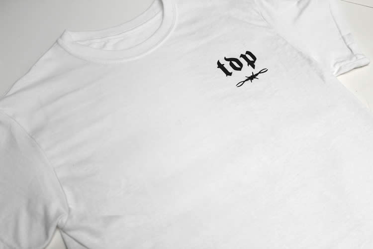 TDP Barbed Wire Logo White T-Shirt