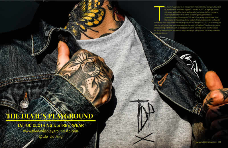 TDP in Models INK Tattoo Magazine