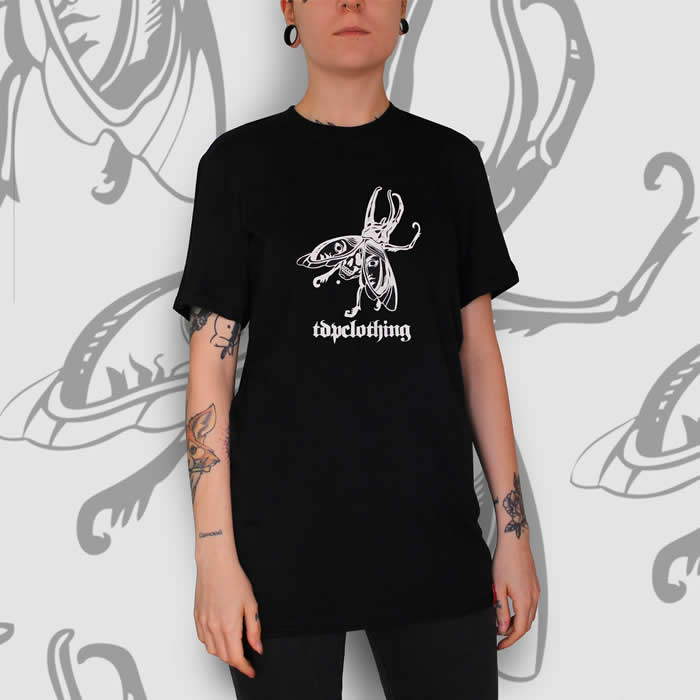 Beetle Tattoo T-Shirt Black