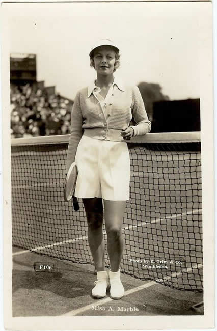 Alice Marble first woman in Shorts
