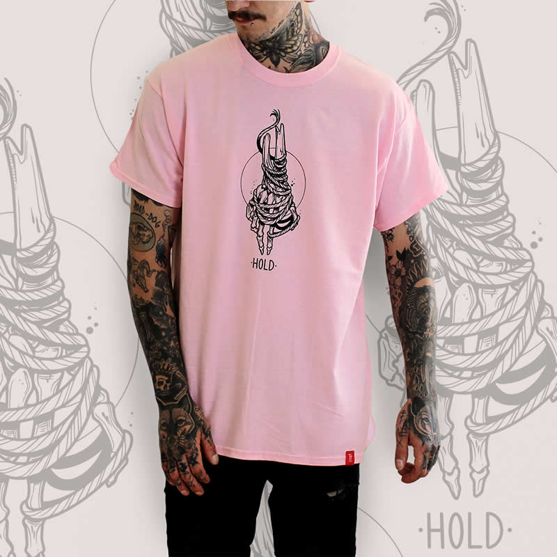 Skeleton Hand Pink T-Shirt
