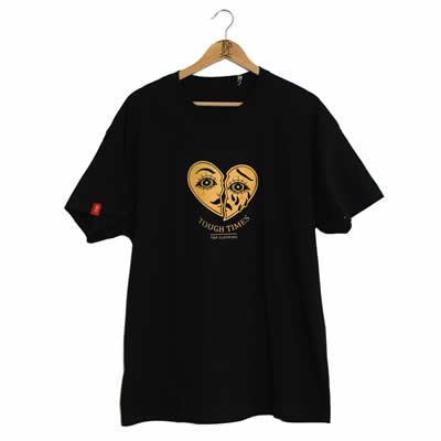 Crying Heart Black T-Shirt Front Print